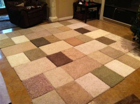 make a rug from carpet make rugs from free carpet sles an easy diy project creative design