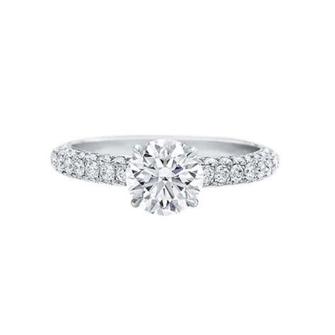 1 Carat Engagement Ring by Snowflake Cluster Engagement Ring Kataoka The