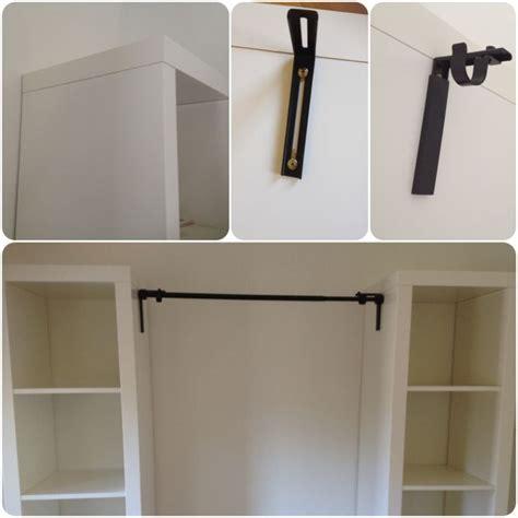 Diy Wardrobe Process Faux Headboard Curtain Rods And 2