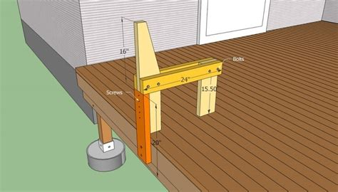 how to build a bench on a deck deck bench plans free howtospecialist how t