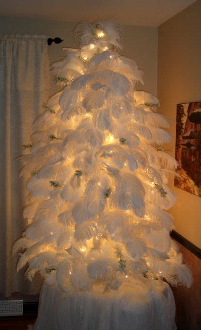 check out this ostrich feather christmas tree featured on