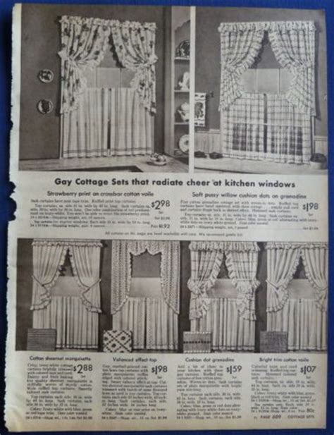 1940s curtains curtains window coverings kitchen home decor vintage 1940s