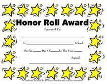free honor roll certificate template free printable certificates blank awards certificate