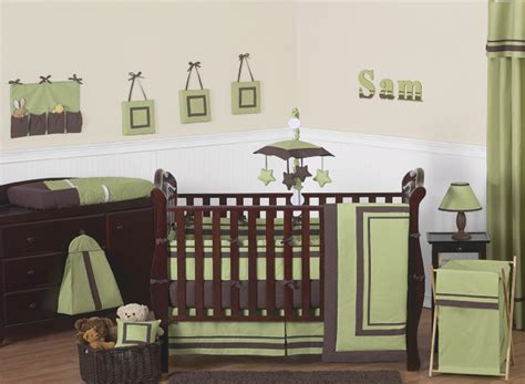Green And Brown Crib Bedding Designer Contemporary Modern Green Brown Cheap 9p Baby Boy Crib Bedding Set Ebay