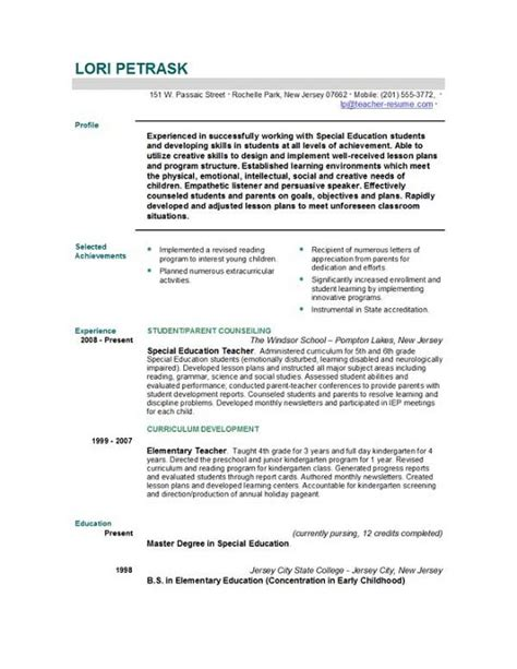 Job Resume Teacher by Write Cv For Teaching Job
