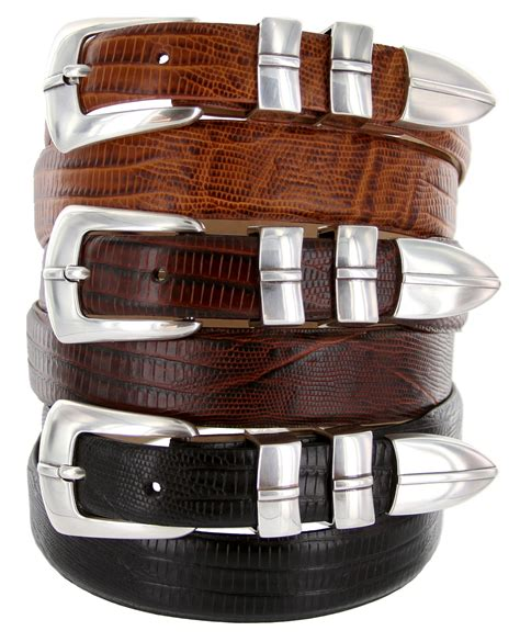 marin silver mens leather designer dress golfing belt