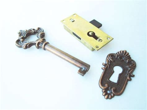 Brass Drawer Lock by Vintage Brass Plated Key And Lock Drawer Lock Cabinet