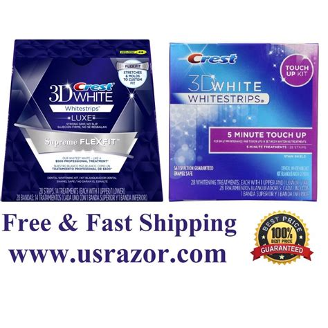crest supreme crest 3d supreme flexfit 5 minute touch up whitestrips