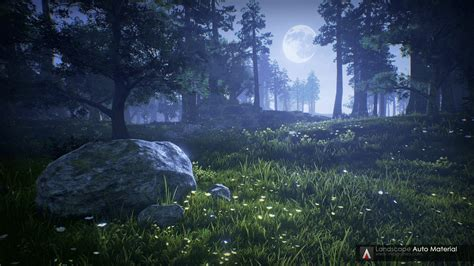 engine 4 landscape lighting landscape auto material by vea in environments ue4 marketplace