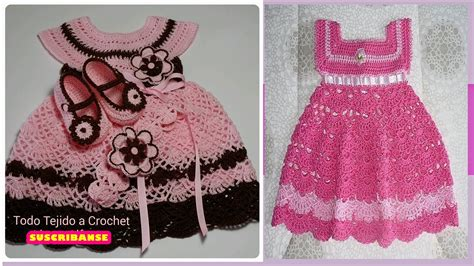 Vestidos Para Bebes De Tejido | no te pierdas los dulces vestidos tejidos de beb 233 venicce me