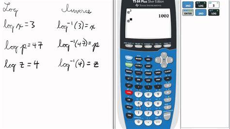 calculator antilog inverse logs on calculator ti 84 calculator logarithms