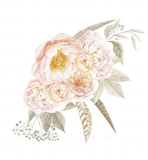 floral bouquets 6 vintage floral bouquets by larabriffa graphicriver