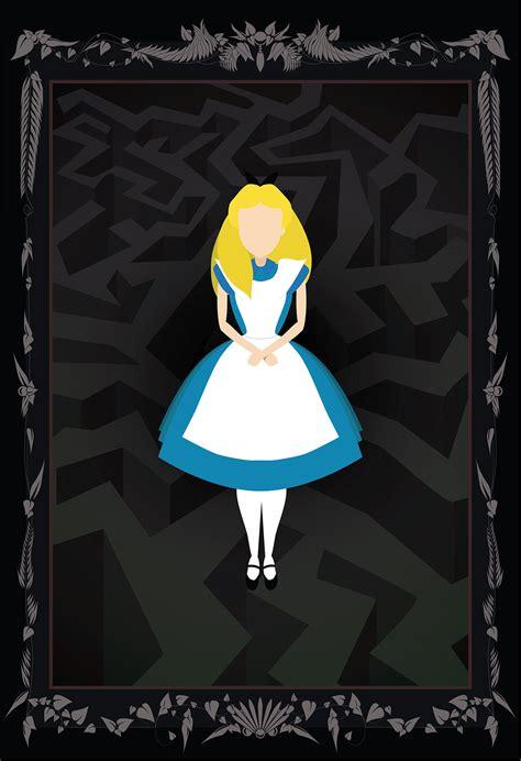 alice  wonderland poster graphic illustration