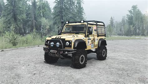 land rover defender road land rover defender 90 road for mudrunner