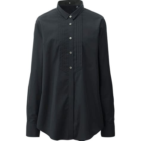 Uniqlo Formal Shirt uniqlo j cotton tuxedo sleeve shirt in black lyst