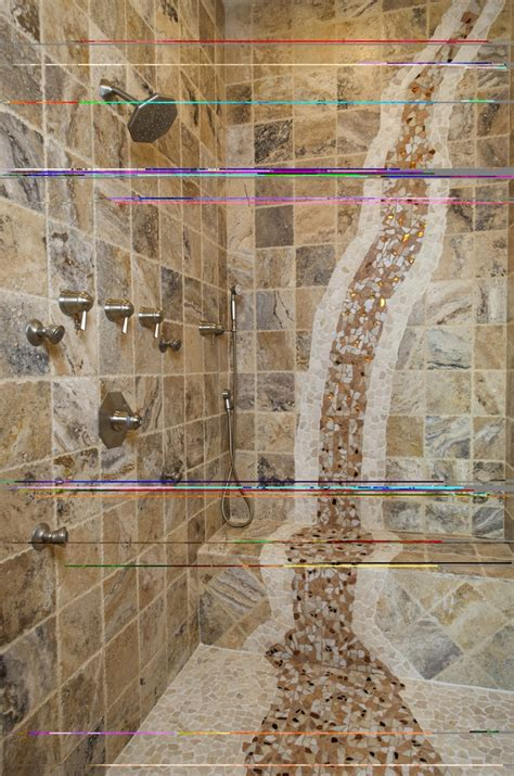 waterfall shower designs mosaic waterfall in shower bathroom designs pinterest
