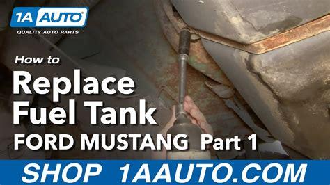 remove fuel gas tank ford mustang mercury capri