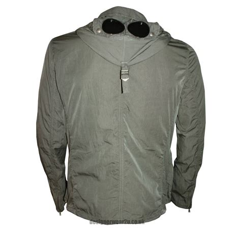 Cp Jaket Grey cp company grey multi pocket hooded jacket with goggles jackets from designerwear2u uk