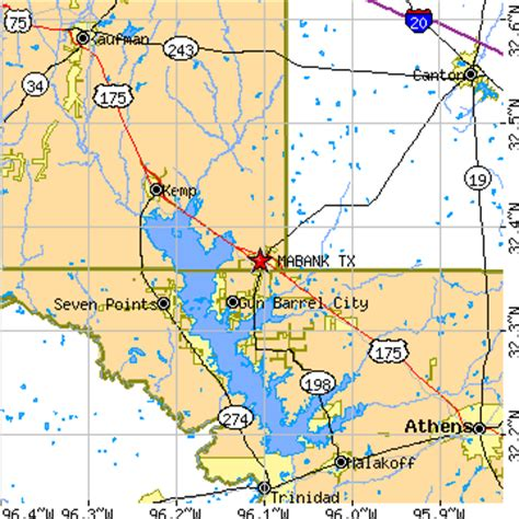 where is mabank texas on a map mabank texas tx population data races housing economy