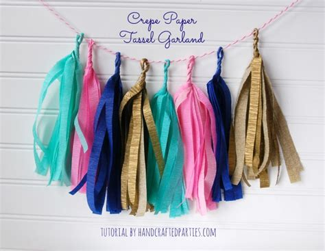 diy decorations using crepe paper crepe paper tassel garland tutorial by handcrafted