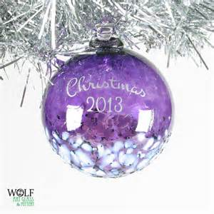 blown glass ornament custom personalized christmas by