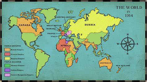 map of the world in 1914 schools causes