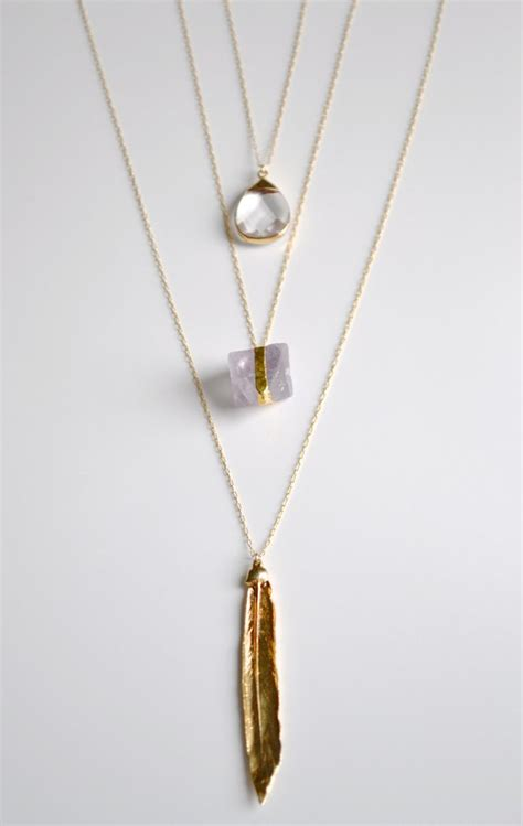 Layered Necklaces The Accessory by Necklaces Boho Pendant Necklace Layered Necklaces Gold