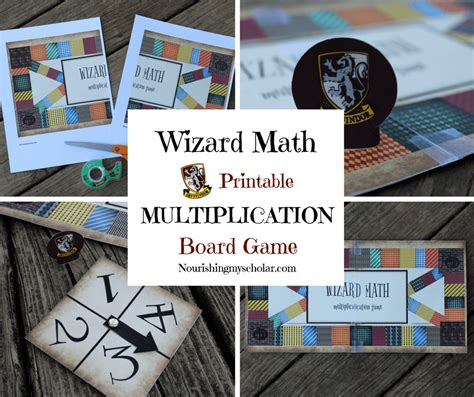 harry potter printable board games wizard math printable multiplication board game