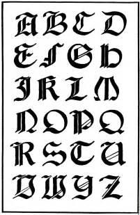 letras gticas de letras goticas coloring pages