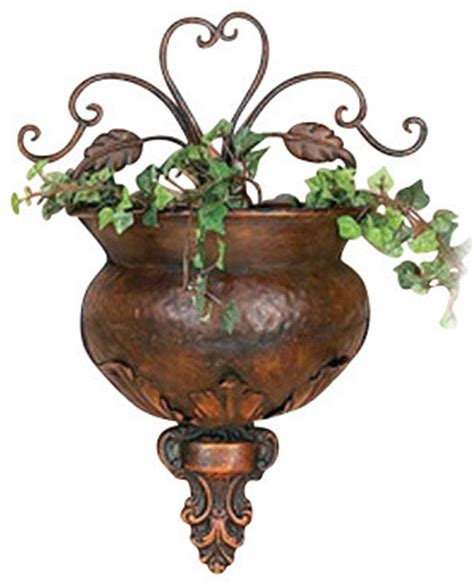 metal wall planter traditional indoor pots and