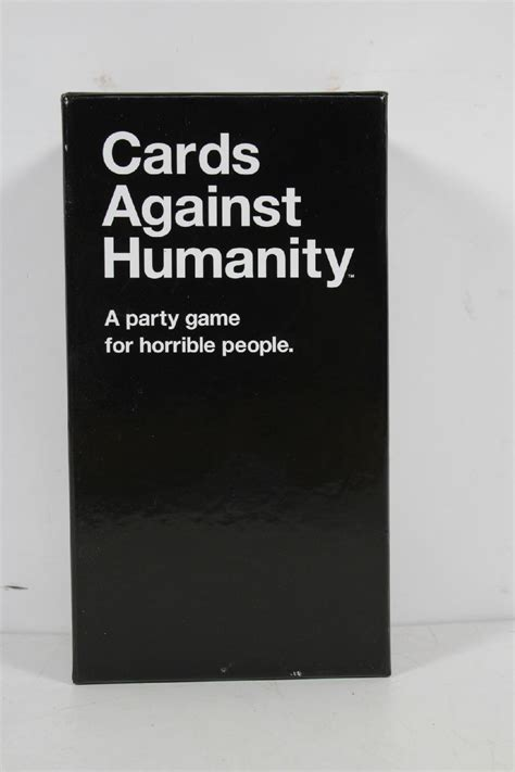 cards against humanity template cards against humanity base pack for horrible ebay