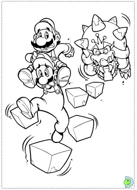Super Mario Bros Coloring Page Dinokids Org Mario Brothers Coloring Page