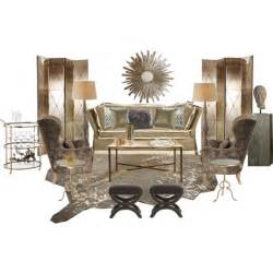Home Bar Interior Design by Gold And Grey Living Room Polyvore