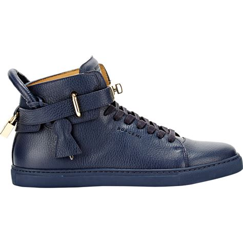 buscemi sneakers mens lyst buscemi 100mm leather sneakers in blue for