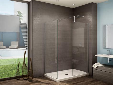 5 Foot Shower Door Fleurco Glass Walk In Shower Evolution 5ft 6ft No Shield