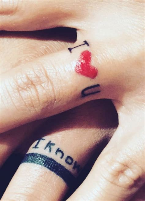 matching couple finger tattoos 55 matching tattoos for