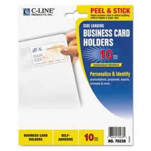 adhesive business card holder c line self adhesive business card holders cli70238