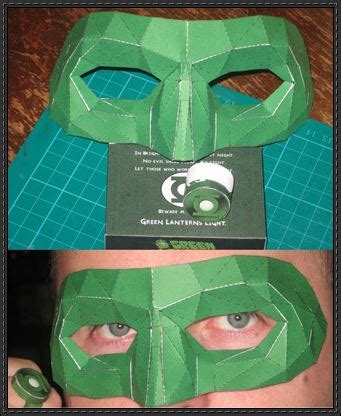Green Lantern Papercraft - new paper craft green lantern mask papercraft free