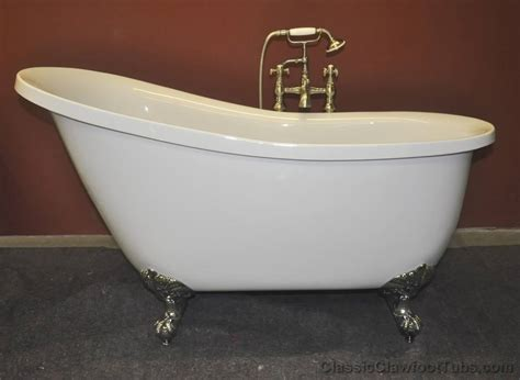 claw footed bathtubs 55 quot acrylic slipper clawfoot tub classic clawfoot tub