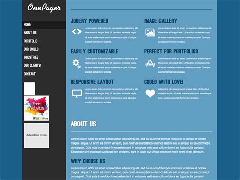 one page company profile template 85 new themes to inspire you webdesigner depot