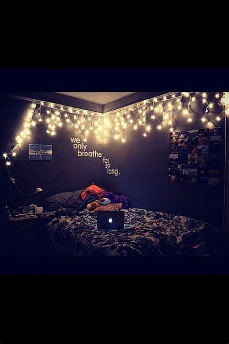 tumblr lights bedroom tumblr room love the theme but that quote would end up