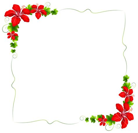 design powerpoint bunga illustration of a floral border with red flowers on a