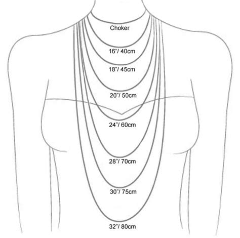 related keywords suggestions for necklace lengths cm