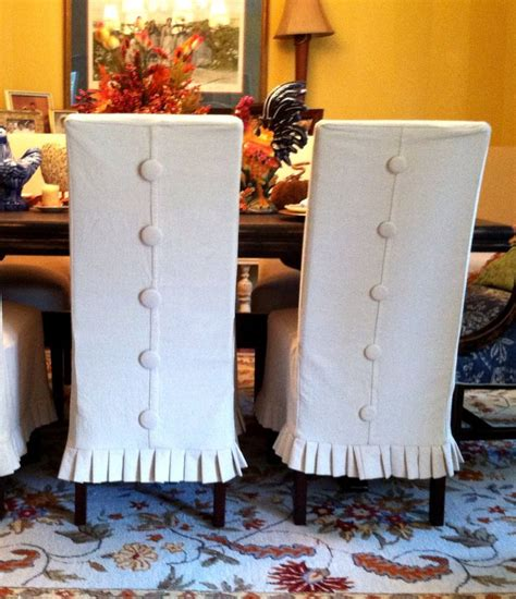 Dining Room Chair Covers With Buttons Best 25 Chair Slipcovers Ideas On Dining