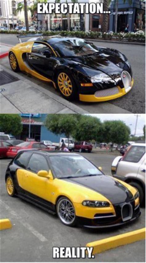 New Bugatti Meme - bugatti veyron quot expectation vs reality quot meme