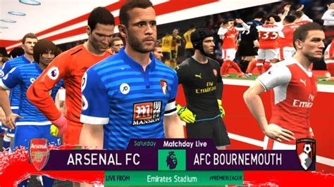 arsenal pes 2018 pes 2018 arsenal fc vs afc bournemouth new games on pc hd