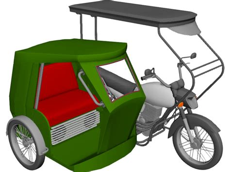 philippines tricycle tricycle philippines 3d model 3d cad browser