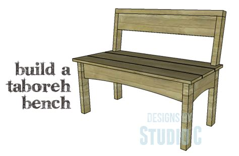 bench plans with back diy plans to build a taboreh bench