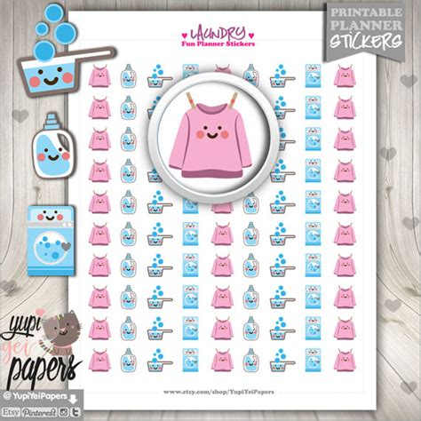 Free Printable Laundry Planner Stickers | 50 off laundry stickers printable planner stickers digital