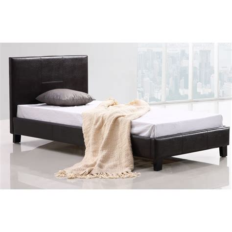 Palermo Bed Frame Palermo Single Size Pu Leather Bed Frame In Brown Buy Single Bed Frame